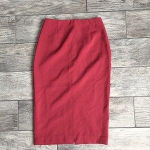 Asos Coral Pencil Skirt US 0 UK 4